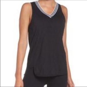 ZELLA A-GAME MESH TANK BLACK WHITE SMALL